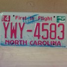 2010 North Carolina Mint Natural License Plate NC #YWY-4583 With Registration