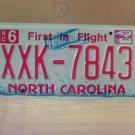 2009 North Carolina NC License Plate Tag #XXK-7843 Mint Stickered