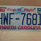 1995 North Carolina License Plate NC #HWF-7681