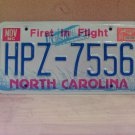 1994 North Carolina EX License Plate NC #HPZ-7556
