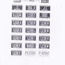 1963 North Carolina NC License Plate Tags Blotter Copy