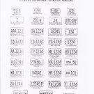 1974 North Carolina NC License Plate Tags Blotter Copy