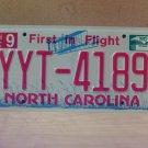 2010 North Carolina Mint Unissued License Plate NC YYT-4189