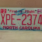 2009 North Carolina NC License Plate Tag XPE-2374