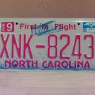 2008 North Carolina NC Red Letter License Plate Tag XNK-8243 EX-N
