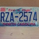 2005 North Carolina Error License Plate NC #RZA-2574