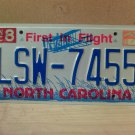 1999 North Carolina Mint License Plate NC #LSW-7455