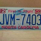 1997 North Carolina Mint License Plate NC #JVM-7403 With Registration