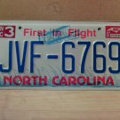1997 North Carolina Mint License Plate NC #JVF-6769 With Registration