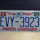 1993 North Carolina VG License Plate NC #EVY-3923