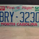 1988 North Carolina EX License Plate NC #BRY-3230