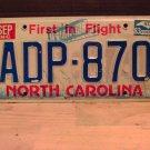 1983 North Carolina VG License Plate NC #ADP-870
