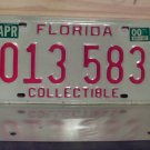 2000 Florida FL Collectible License Plate Tag #013583
