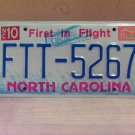 1994 North Carolina License Plate Tag NC FTT-5267