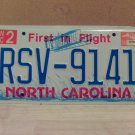 2004 North Carolina License Plate Tag NC RSV-9141 - EX-N