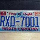 2004 North Carolina License Plate Tag NC RXD-7001 - EX-N