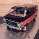 1970s Chevrolet Van 1:25 Scale Model in Black and Tan