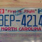 2013 North Carolina NC First in Flight License Plate BEP-4214