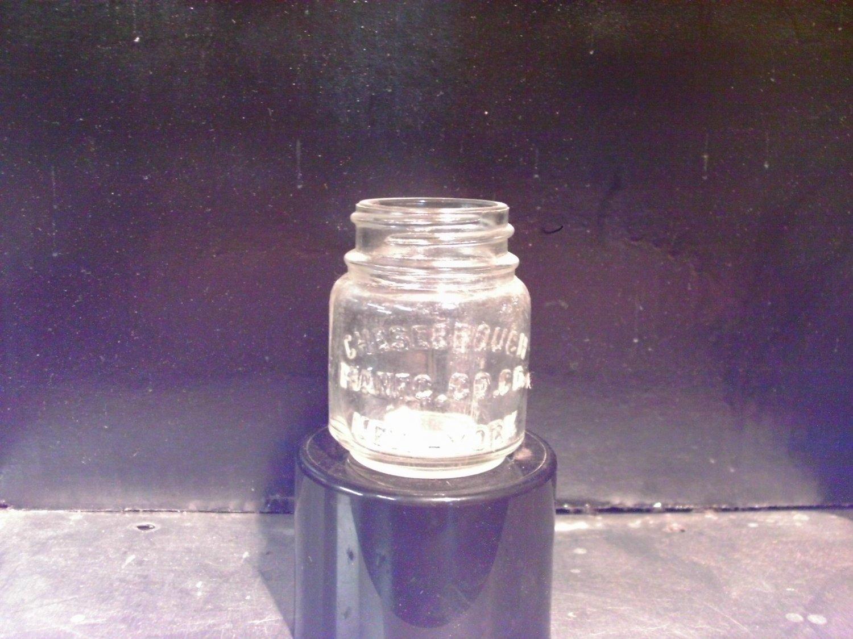 Mid- 1900s Chesebrough Mfg Co - Vaseline Clear Jar