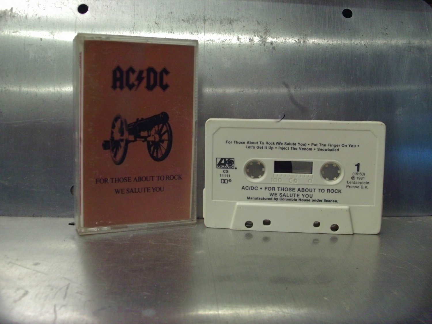 AC/DC - For Those About To Rock, We Salute You Cassette Tape A1-4