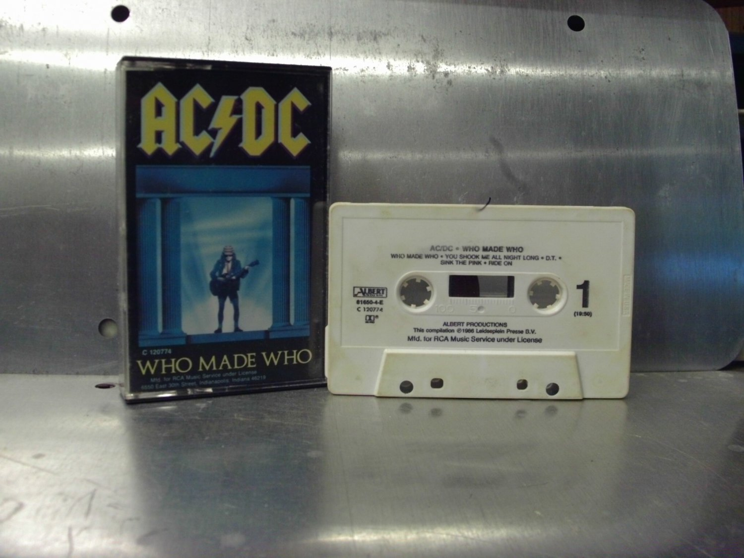 AC/DC - Who Made Who Cassette Tape A1-6
