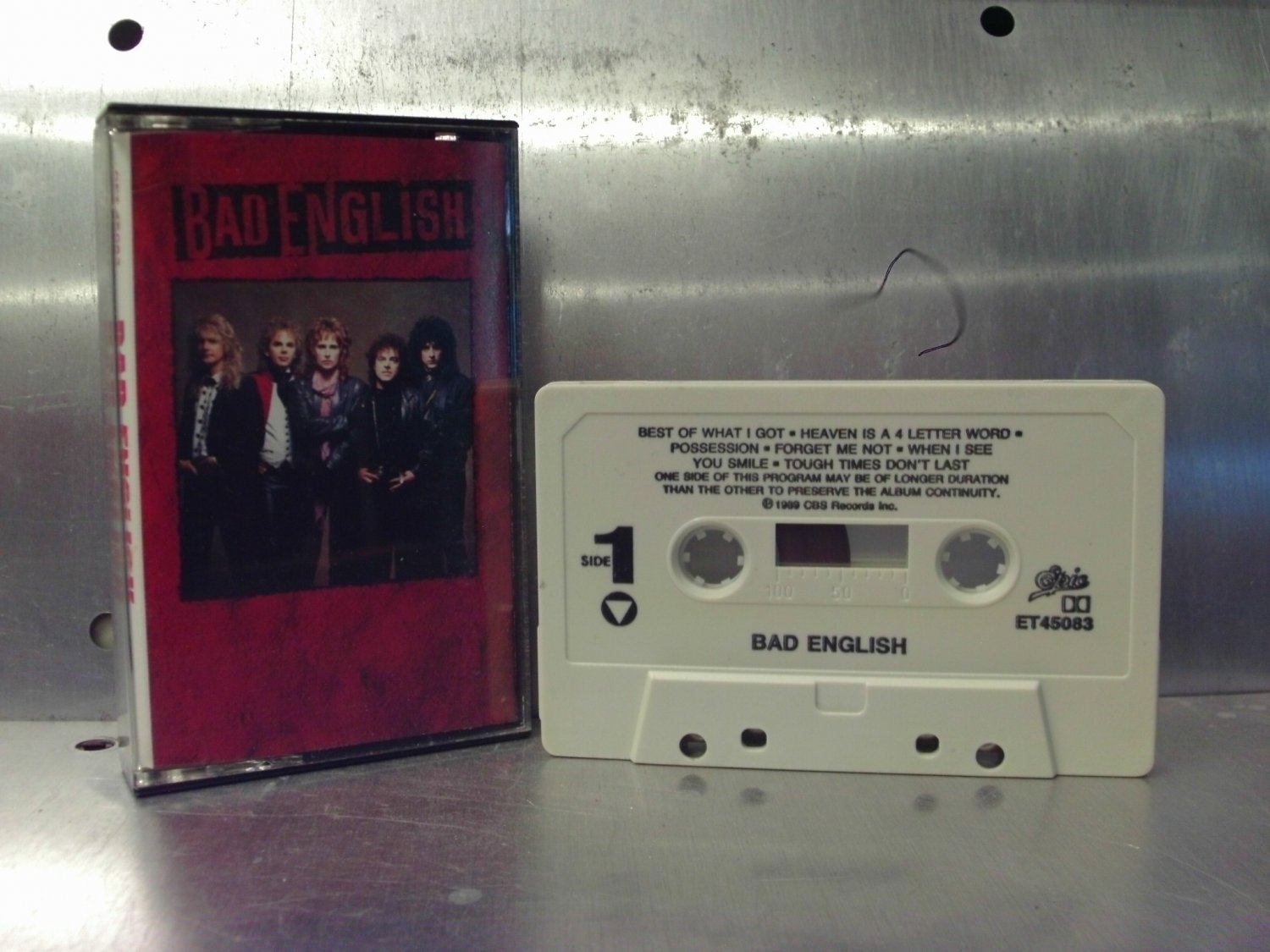 Bad English - Self-titled Cassette Tape A1-22