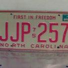 1976 North Carolina NC YOM Passenger License Plate JJP-257
