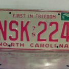 1978 North Carolina NC EX YOM Passenger License Plate NSK-224