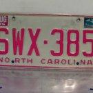 1981 North Carolina NC YOM Passenger License Plate SWX-385