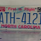 1986 North Carolina First in Flight License Plate NC #ATH-4121