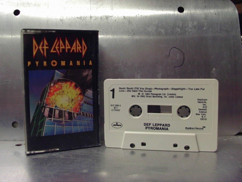 Def Leppard - Pyromania Cassette Tape A1-73