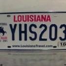 2016 Louisiana LA License Plate Tag YHS203