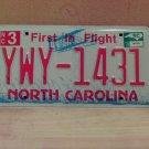 2010 North Carolina NC License Plate Tag YWY-1431 EX-N