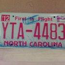 2009 North Carolina NC License Plate Tag #YTA-4483 EX-N