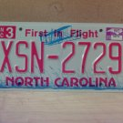2009 North Carolina NC License Plate Tag #XSN-2729 Mint Stickered