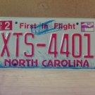 2009 North Carolina NC License Plate Tag #XTS-4401 Mint Stickered