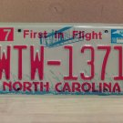 2008 North Carolina NC Red Letter License Plate Tag WTW-1371 EX-N