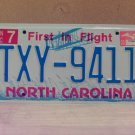 2006 North Carolina NC License Plate Tag TXY-9411 EX-N
