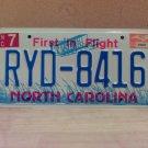 2004 North Carolina NC License Plate Tag #RYD-8416 - EX-N