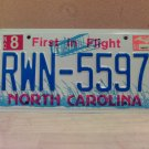 2004 North Carolina NC License Plate Tag #RWN-5597 - EX-N