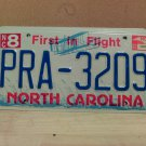 2002 North Carolina NC License Plate Tag #PRA-3209 - EX-N