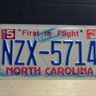 2002 North Carolina NC License Plate Tag #NZX-5714 - EX-N
