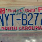 2002 North Carolina NC License Plate Tag #NYT-8277 - EX-N