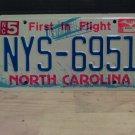 2002 North Carolina NC License Plate Tag #NYS-6951 - EX-N