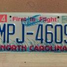 2000 North Carolina NC License Plate Tag #MPJ-4609 EX-N