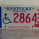 2010 Kentucky KY Disabled Veteran License Plate Tag 2864