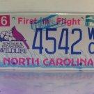 2010 North Carolina NC Wildlife License Plate Tag #4542WC Uncommon Flat Natural