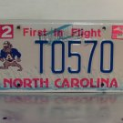 2002 North Carolina NC A & T University License Plate Tag #T0570