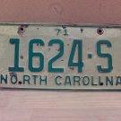 1971 North Carolina Truck License Plate NC #1624-S