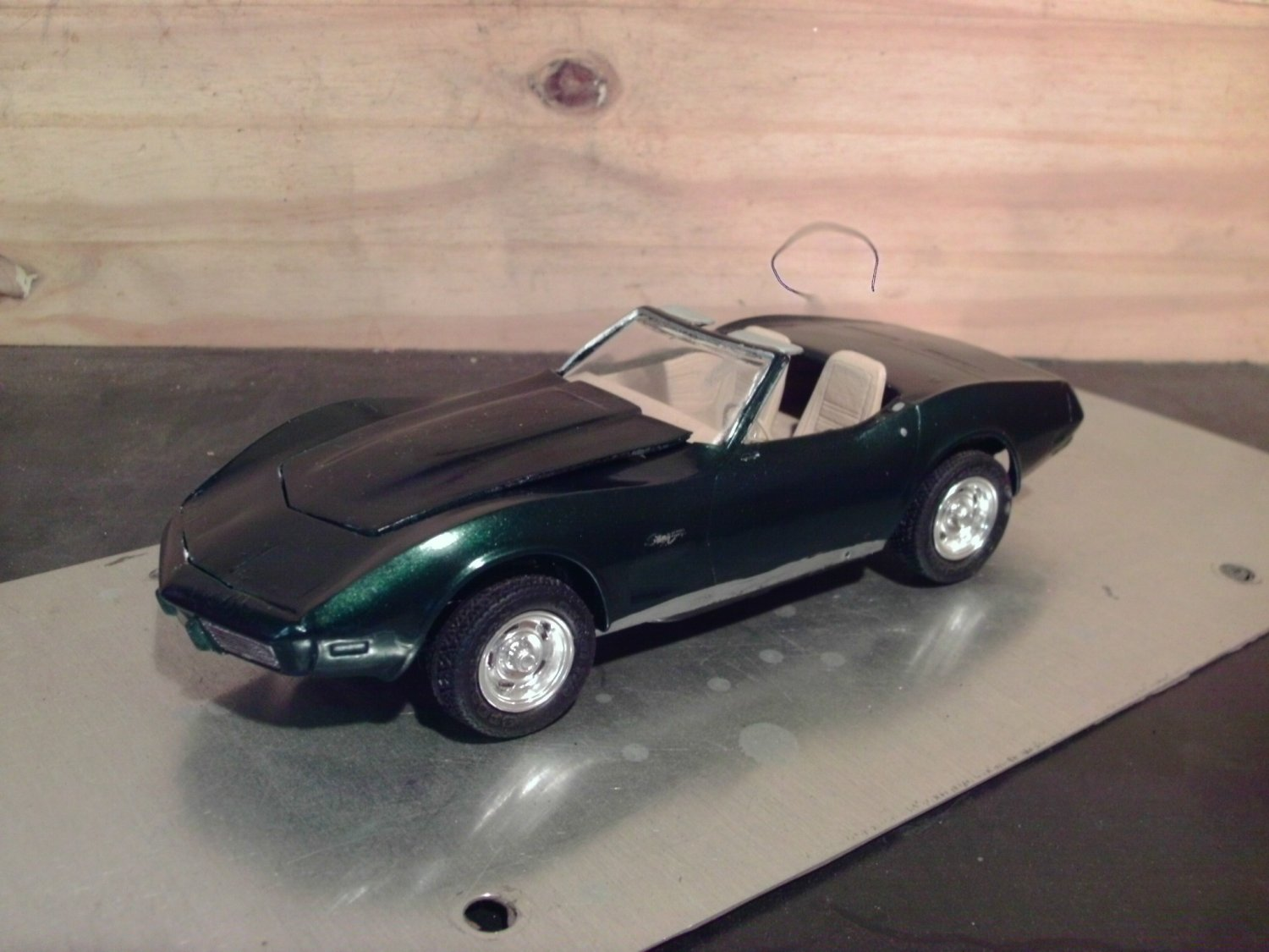 1974 Chevrolet Corvette Convertible 1/25 Scale Model in Dark Green
